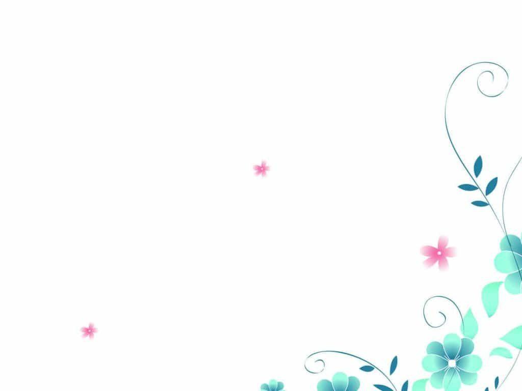 background đẹp với nền trắng hoa xanh