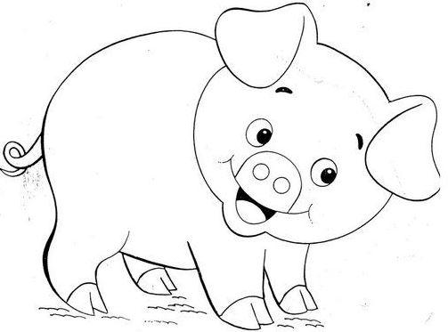 hình tô màu con vật cho bé tập tô